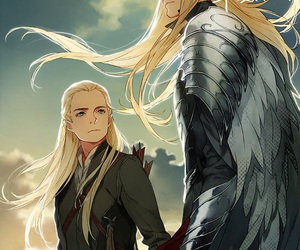 Legolas, thranduil, and art image