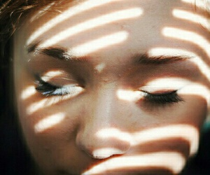 girl, light, and eyes image