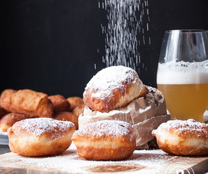 food, sweets, and beignets image