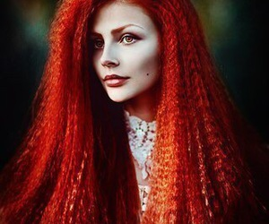 girl, red, and red hair image