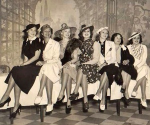 40s, girl, and friends image