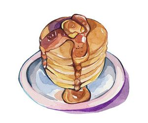 overlay, food, and pancakes image
