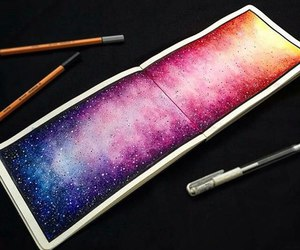 art, galaxy, and colors image