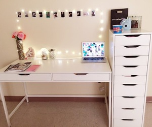 room, lights, and cute image