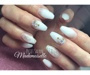 art, bling bling, and manicure image