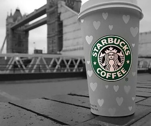 starbucks, london, and coffee image