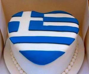 flag and Greece image