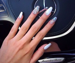 nails, car, and beauty image