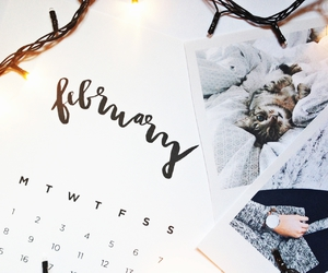 beautiful, calender, and february image