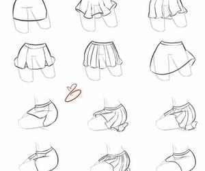 skirt, drawing, and art image
