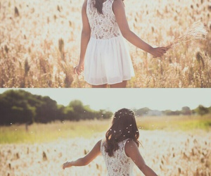 dress, mujer, and vestido image