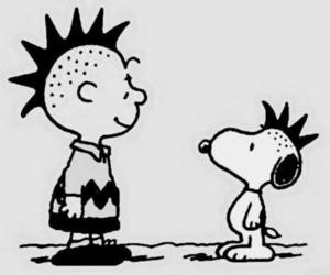 punk, snoopy, and charlie brown image