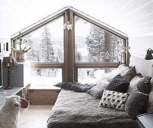 winter, snow, and room image