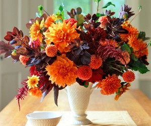 decoration, orange, and flower image