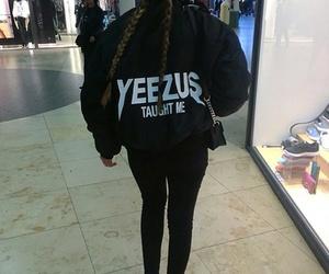 yeezus, black, and braids image