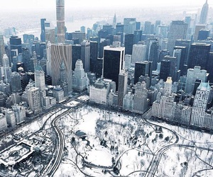 Central Park and winter image