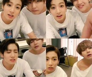 bts, vkook, and jungkook image