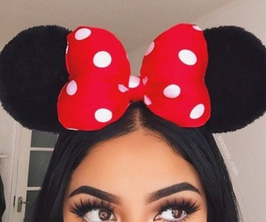 beautiful, makeup, and minnie mouse image
