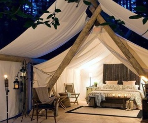 tent, bed, and bedroom image