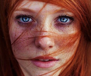 eyes, hair, and blue image