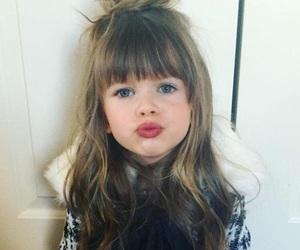 girl, kid, and kiss image