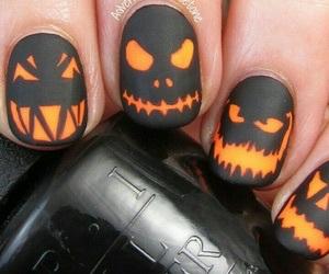 nail art, pumpkin, and nails image