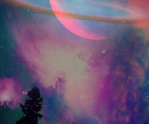 forest, hipster, and galaxy image