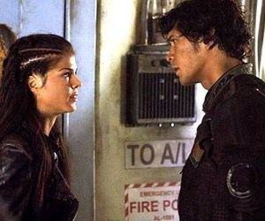 the 100, bellamy blake, and octavia blake image