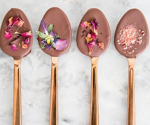 chocolate, food, and spoon image
