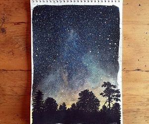 art, stars, and draw image