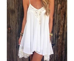 boho, white, and dress image