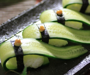 cucumber, green, and food image