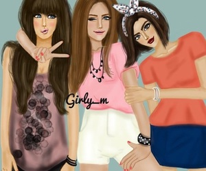 girly_m, friends, and drawing image
