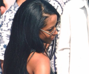 aaliyah, hair, and homie image