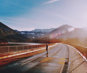 alone, mountains, and road image