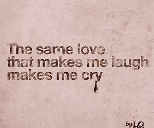 love, cry, and quote image