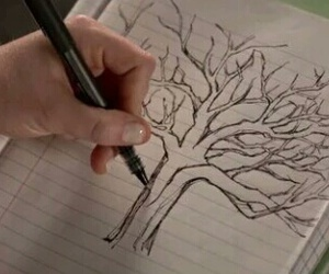 draw, lydia, and trees image