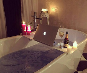 relax, bath, and luxury image