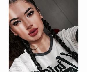 braid, girl, and makeup image
