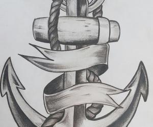 anchor, beautiful, and drawing image