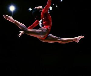 beam, gymnastics, and splits image
