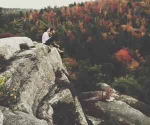nature, couple, and autumn image
