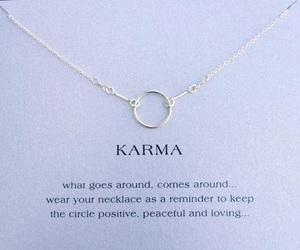 karma, necklace, and quotes image