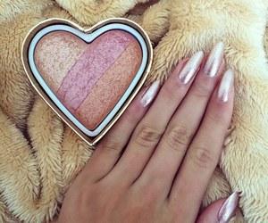 nails, makeup, and pink image