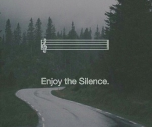 music, silence, and quote image