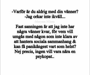 quotes, svenska, and angest image