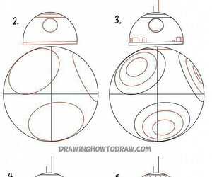 how to draw, star wars, and bb-8 image