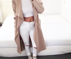 outfit, white, and Nude image