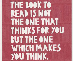 book, quotes, and think image
