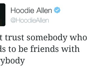 quote and hoodie allen image